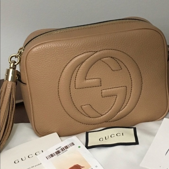 aa46ab49d349 Gucci Handbags - Authentic GUCCI soho disco bag in Rose Beige